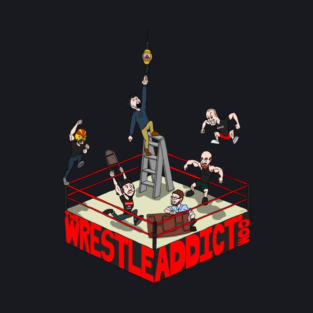 The Wrestle Addict Cartoon Tee