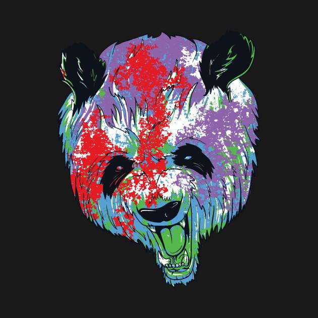 colorful panda panda bear t shirt teepublic