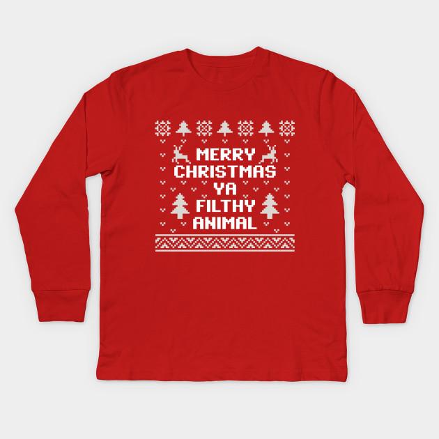 Merry Christmas Ya Filthy Animal Shirt.Merry Christmas Ya Filthy Animal Christmas Sweater