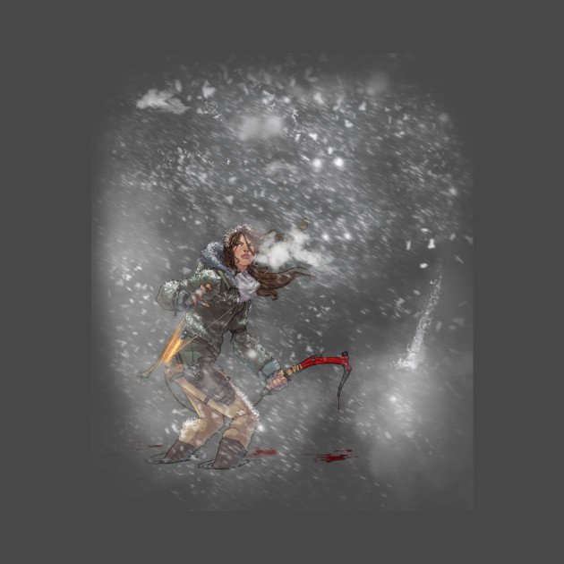 Rise Of The Tomb Raider Art Silk Fabric: Rise Of The Tomb Raider