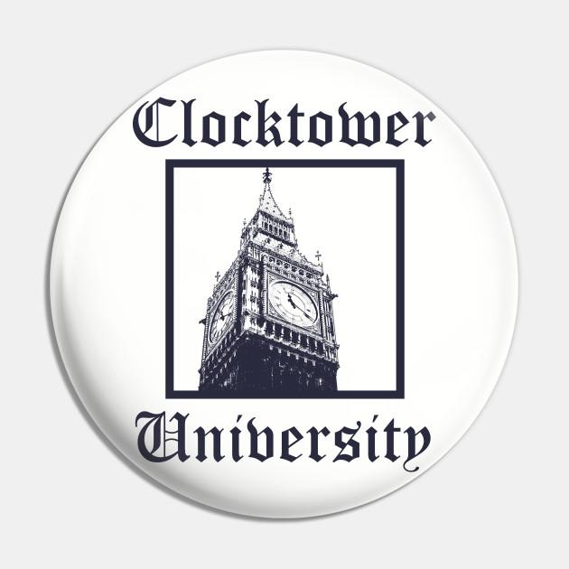 Clocktower University Shirt (Dark text, Classic style)