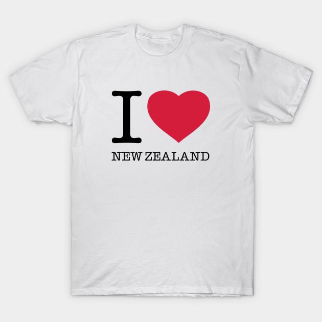 bca72b5d0 I LOVE NEW ZEALAND - New Zealand - T-Shirt | TeePublic