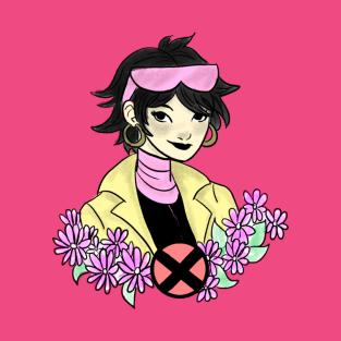 Floral X-men: Jubilee t-shirts