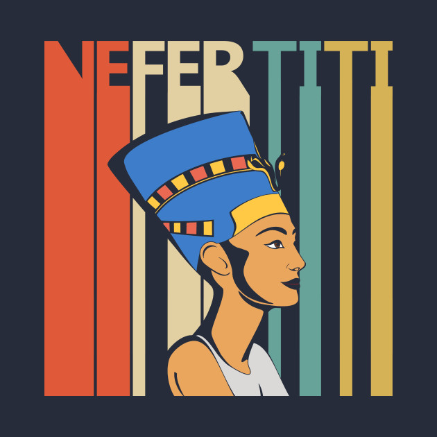 Vintage Retro Egyptian Queen Nefertiti