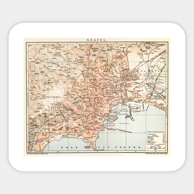 Vintage Map of Naples Italy (1897)