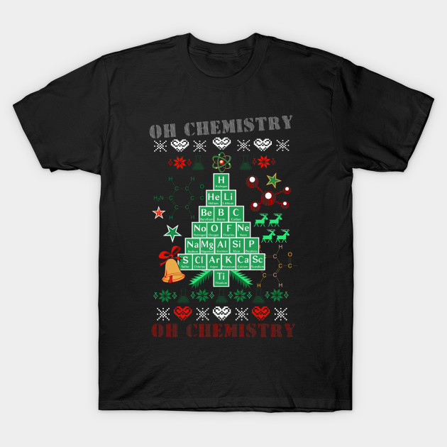 Oh chemistree chemistry funny ugly christmas sweater Oh design