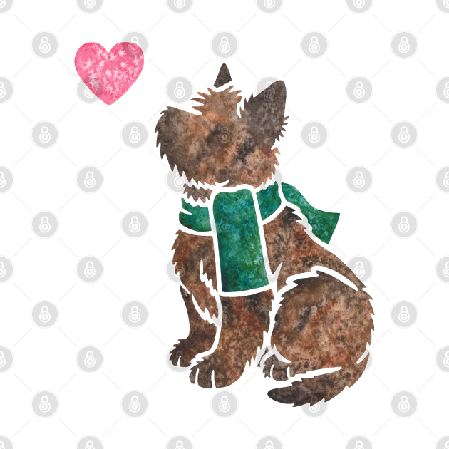 Watercolour Cairn Terrier