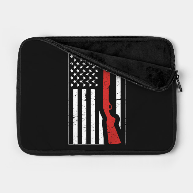 American Flag & Shotgun   Skeet Shooting