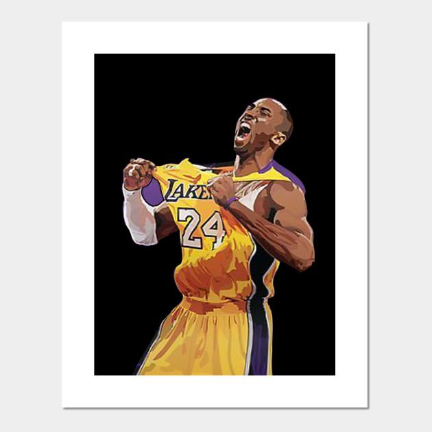 Kobe Bryant Print Kobe Bryant Poster 18 X 24