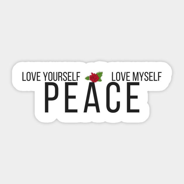 love yourself bts bts naklejka pl