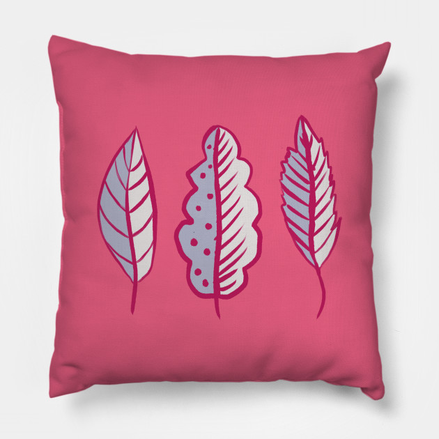 Abstract Decorative Pink Leaves