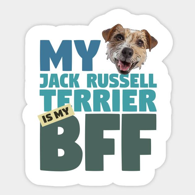 Jack Russell Terrier BFF Dog Best Friend - Dog Lover - Sticker ...