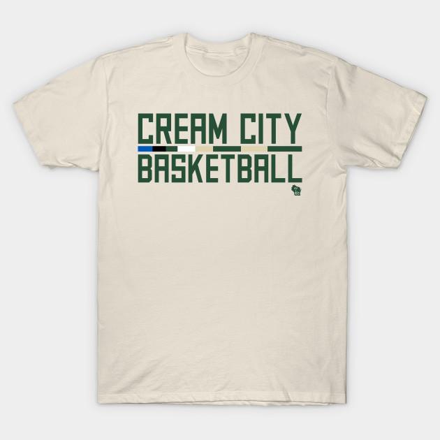 Cream City Basketball - Milwaukee Bucks - T-Shirt | TeePublic