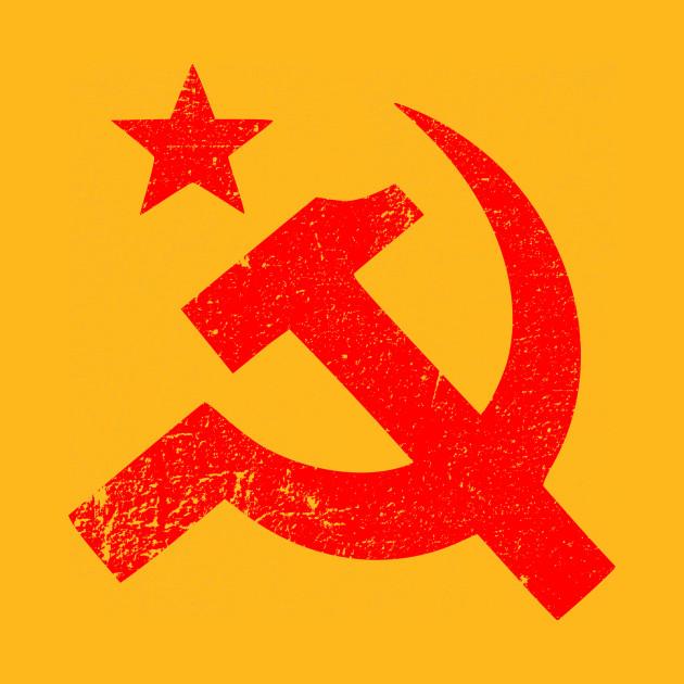 Soviet Symbol Distressed Soviet Union Throw Pillow Teepublic