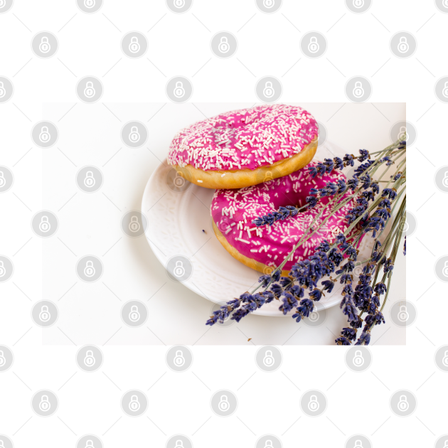 Donuts and Lavender photo print mask.