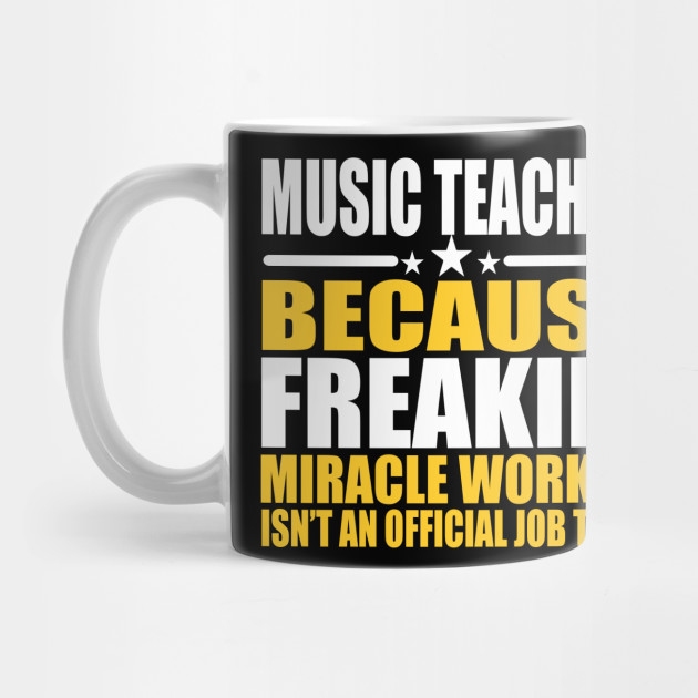 5388d98653e1 Music Teacher Tee - Miracle Worker T shirt - Coworker Music Teacher Gift ...