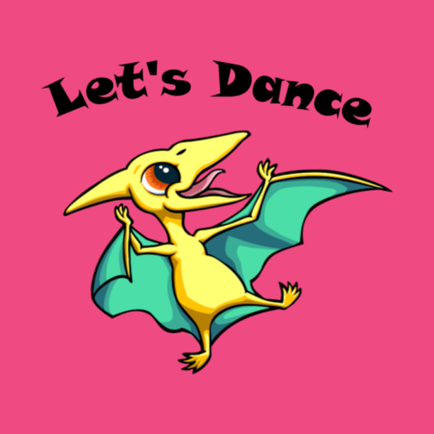 let's Dance Dino T-shirt,books,mugs,apparel,stickers