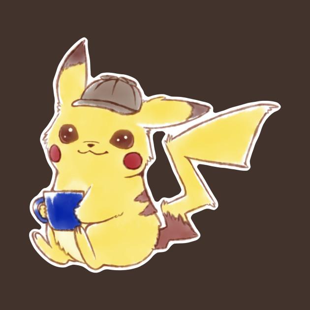 Pokemon Detective Pikachu Movie Cute Kawaii Anime Fan Art
