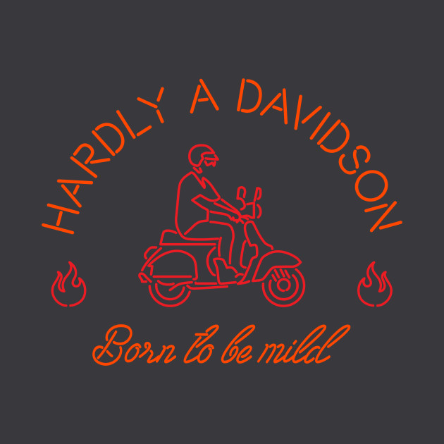 d54a422ad Harley Davidson Funny Parody - Scooter - T-Shirt | TeePublic