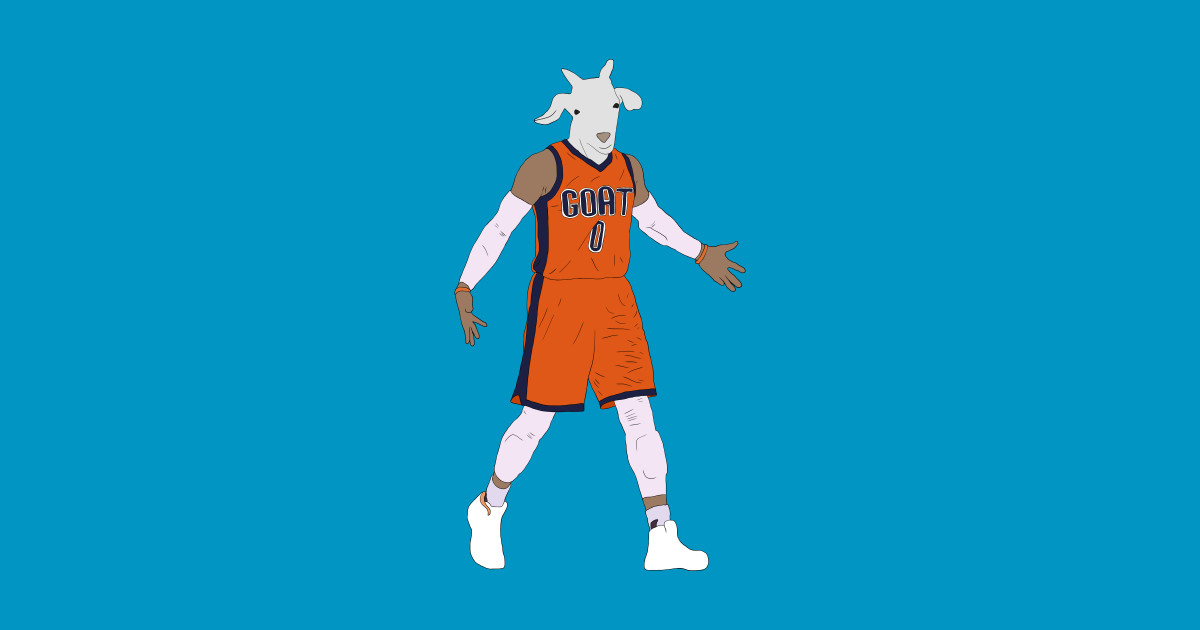 Russell Westbrook, The GOAT - Russell Westbrook - T-Shirt ...
