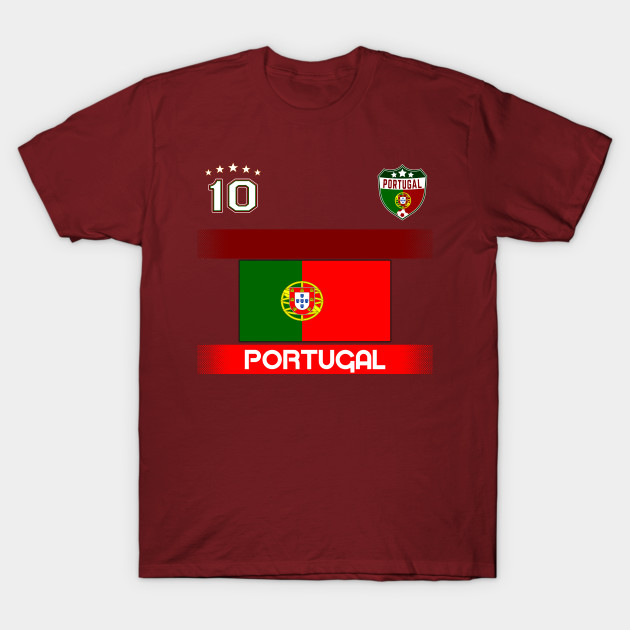 183fc5b84af Portugal Soccer with Portugal flag and number 10 - Portugal Soccer ...