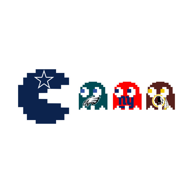 Dallas Cowboys Eating The NFC East Football Pacman