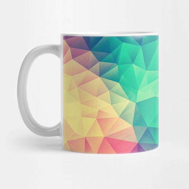 962ed4f7 Color bomb! Abstract Polygon Multi Color Cubism Low Poly Triangle Design ...