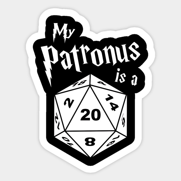 My Patronus Is A D20 Critical Dice Roll Harry Potter Dungeon Dragon Dd T Shirt