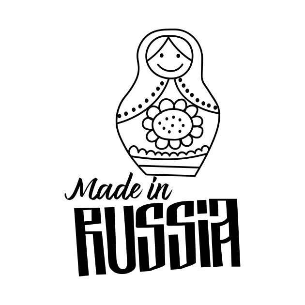 Made in Russia Nesting doll Matryoshka