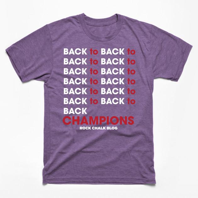 Back to back to back to kansas basketball t shirt for Funny kansas jayhawks t shirts