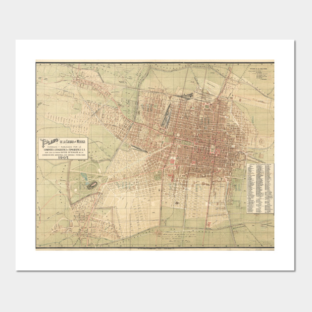 Vintage Map of Mexico City (1907) on a map of latin america, a map of roatan, a map of havana, a map of tamaulipas, a map of los cabos, a map of the southwest, a map of portland, a map of algiers, a map of popocatepetl, a map of milan, a map of rio de janeiro, a map of nassau, a map of zona rosa, a map of caracas, a map of everglades national park, a map of montevideo, a map of sinaloa, a map of the holy land, a map of budapest, a map of harare,