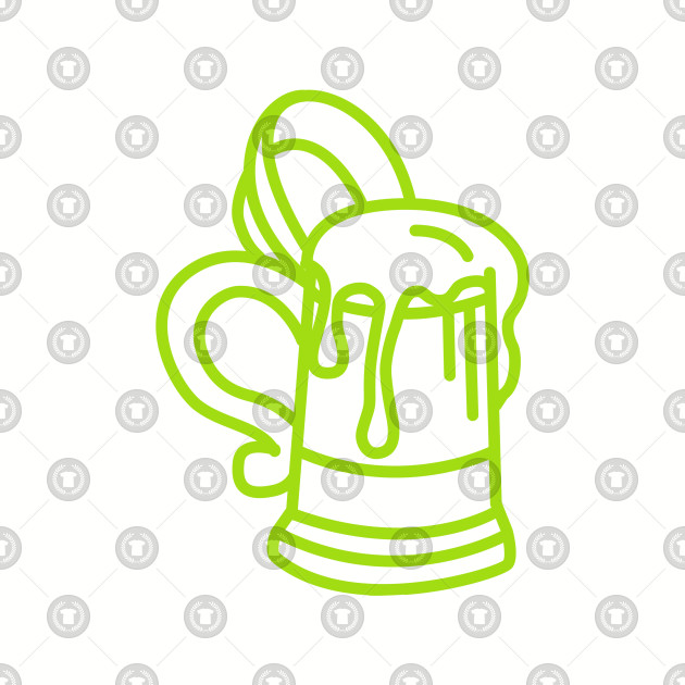 Abstract Pint Design - Perfect for St Patrics Da