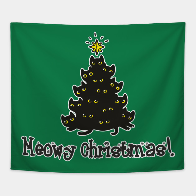 Meowy Christmas.Meowy Christmas Funny Design Art Merry Christmas Gift For Cat Lovers