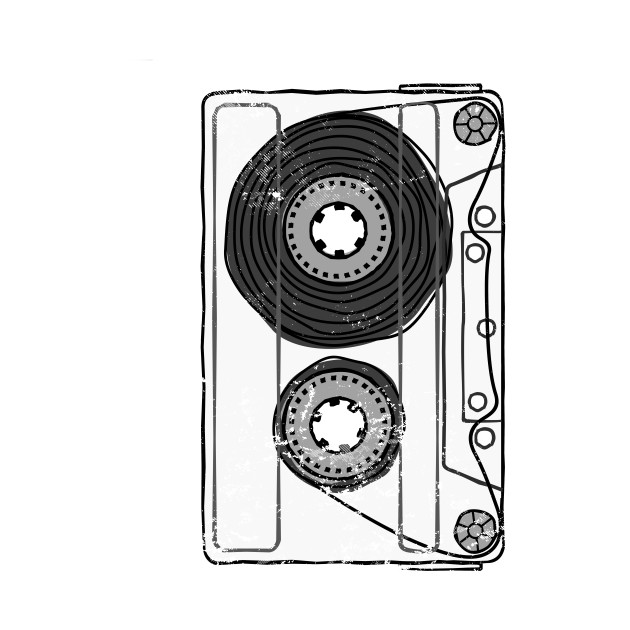 Vintage Retro Mixtape Made in the 80s Cassette Tape