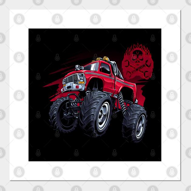 Off Rood Skull Monster Truck Monster Trucks Posters And Art Prints Teepublic