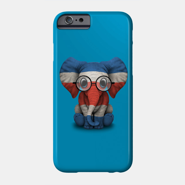b406ea7dcd6ab Baby Elephant with Glasses and Costa Rican Flag - Costa Rica - Phone ...