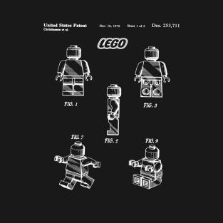 Lego Toy Figure Patent White t-shirts