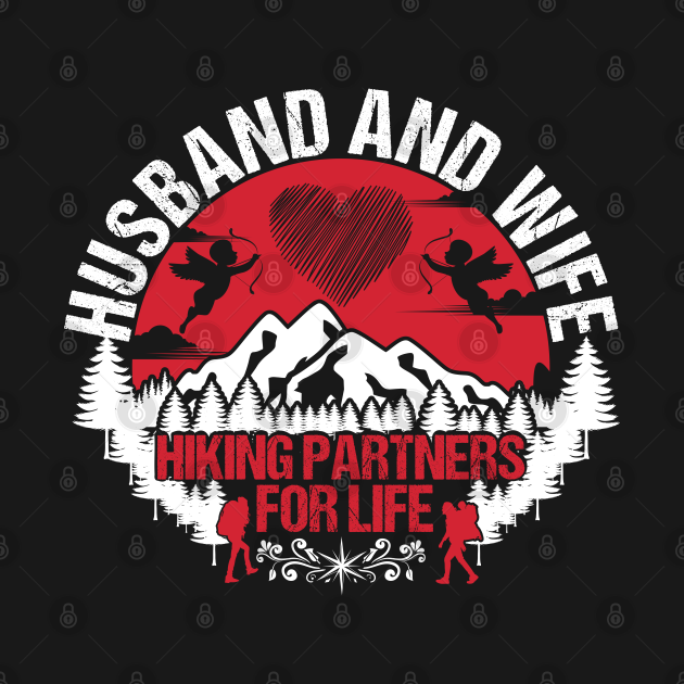 Husband And Wife Hiking Couple