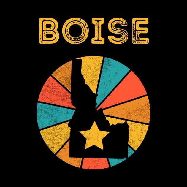 Boise Idaho Vintage Distressed Souvenir