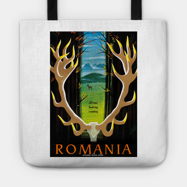 Vintage Travel Poster Romania All Time Hunting Country 1930s