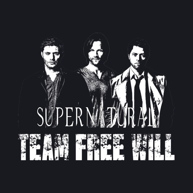 Supernatural Team Free Will White silhouette