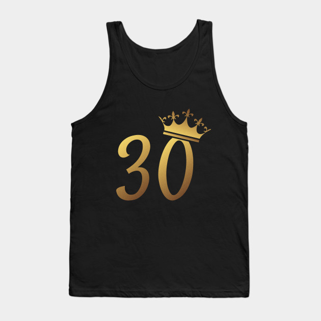 30th Birthday Queen 30 Year Old Girl Gold Tank Top