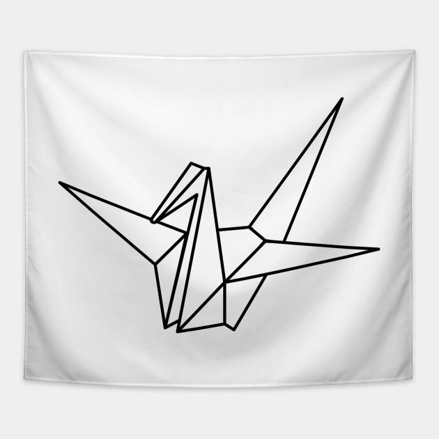 Origami Crane Origami Crane Tapestry Teepublic