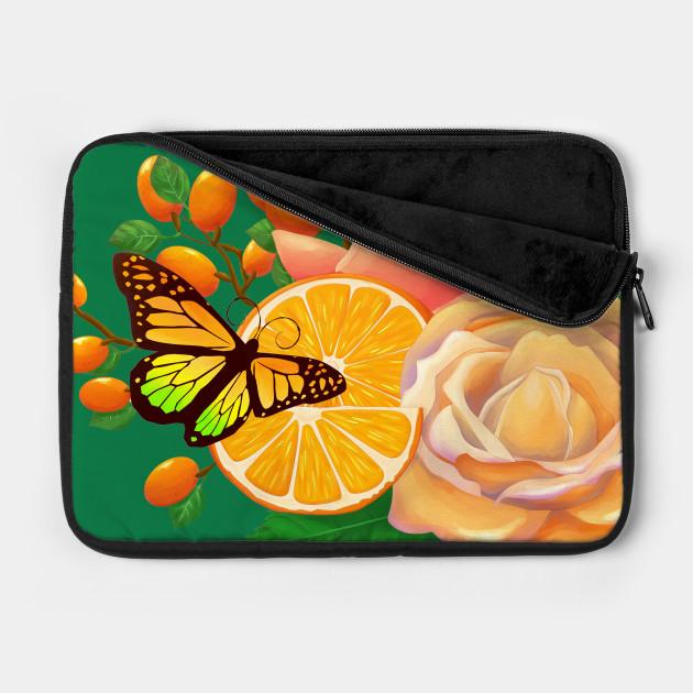 Full Bloom | Butterfly loves oranges