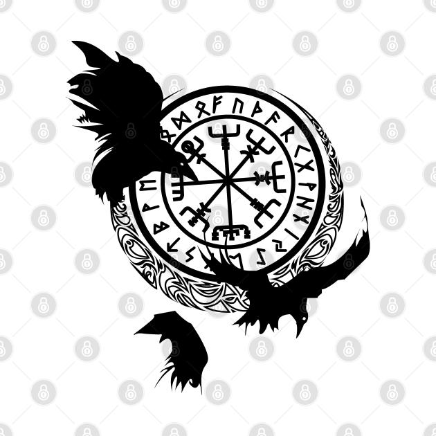 Odins Raven - Viking Runes - Norse Mythology T-Shirt