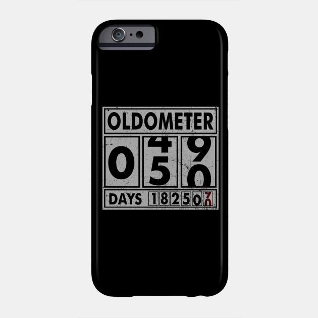 OLDOMETER 50 Years Old Made In 1968 50th Birthday Phone Case