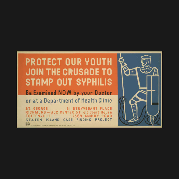 41e37725 ... WPA United States Government Work Project Administration Poster 0631 Protect  Your Heath Join the Crusade to