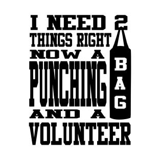 Punching Bag Volunteer (Black) t-shirts
