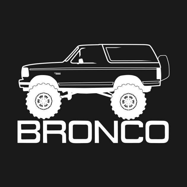 1992-1996 Bronco Side w/Tires, White Print