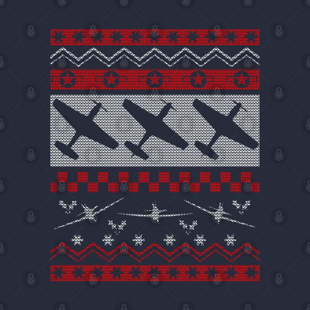 "P-51 Mustang ""Ugly Christmas Sweater"" Tee"